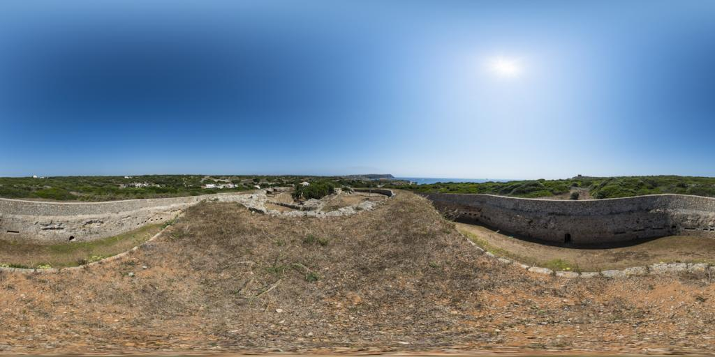 Fort Marlborough auf Menorca - 360° Panorama