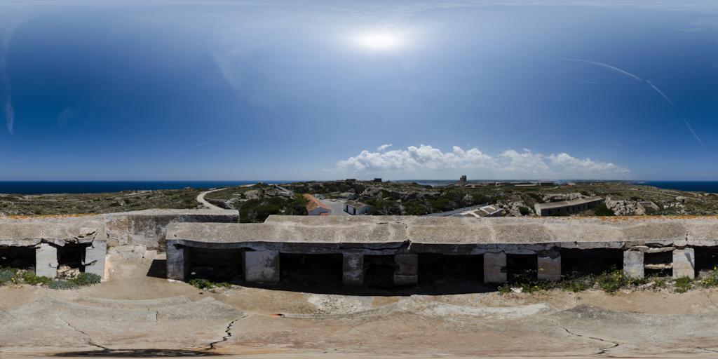 Fortalza La Mola auf Menorca - 360° Panorama