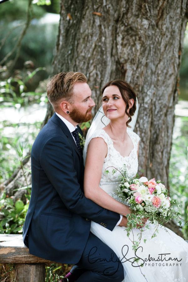 Hochzeit Brautpaar Seepavillon